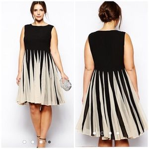 ASOS Fit and Flare pleated  dress size 12